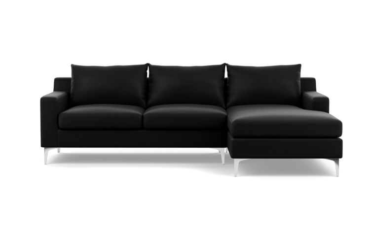 Sloan Leather Custom Sectional Sofa - Interior Define