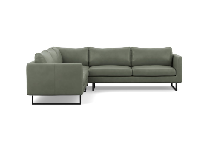 Owens Leather Corner Sectional Sofa - Interior Define