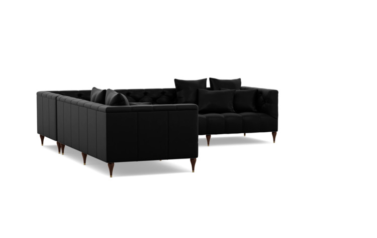 Ms Chesterfield Corner Leather Sectional Sofa Interior Define