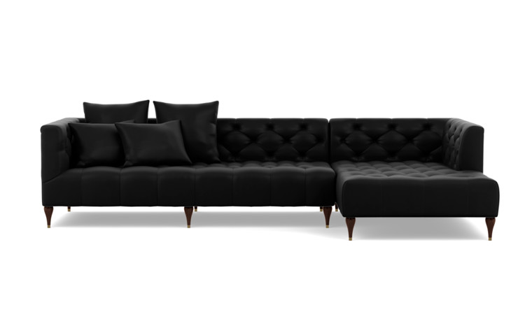 Frame 1 Of Ms Chesterfield Right Chaise Sectional Leather