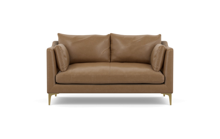 Caitlin by The Everygirl Leather Apartment Sofa - Interior Define