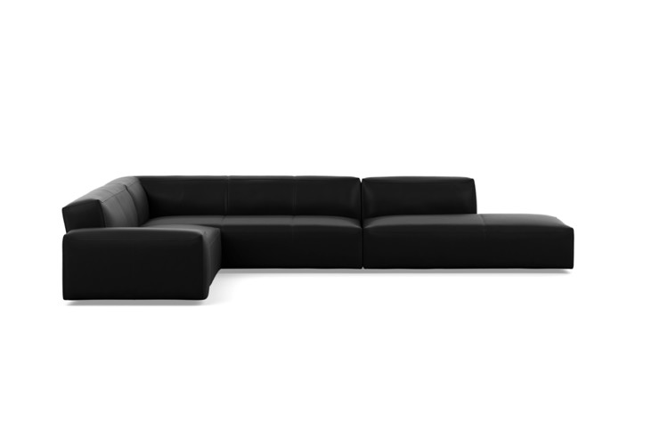 Crawford Leather Corner Sectional Sofa - Interior Define