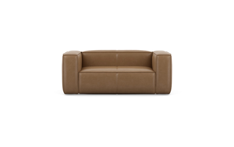 Gray Leather Loveseat - Interior Define