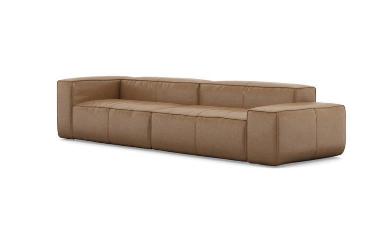 Gray Large Leather Sofa - Interior Define