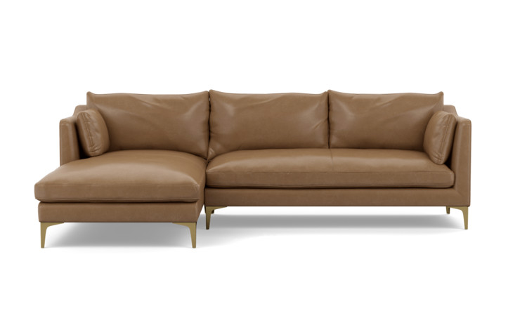 Caitlin by The Everygirl Leather Sectional Sofa - Interior Define