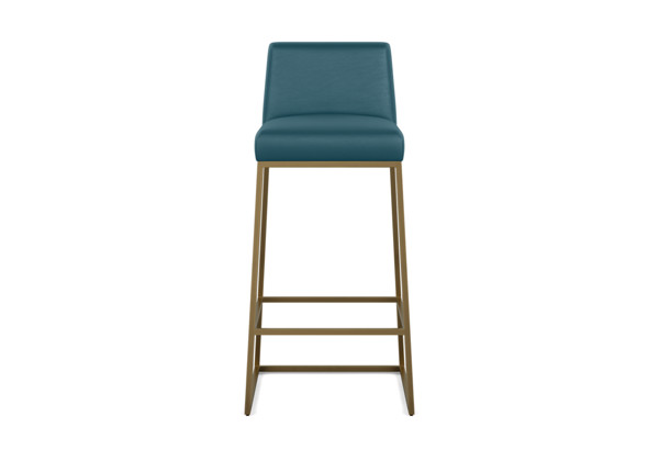 Jewel Low Back Metal And Leather Barstool Ethan Allen Barstools