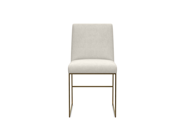 Ethan Allen 360 View Frame 1 Of Jewel Metal Base Tapered Back Dining Chair Fabric