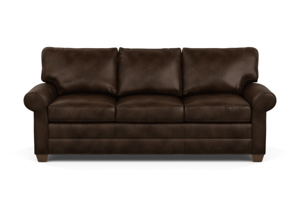 Bennett Roll-Arm Leather Sofa, Quick Ship | Sofas & Loveseats ...