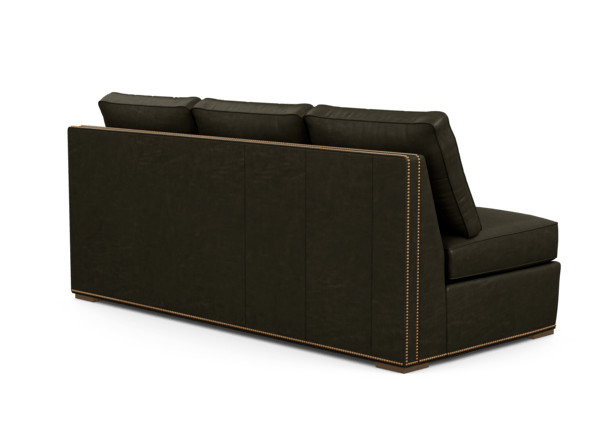 Meeting Place Leather Armless Sofa | Ethan Allen