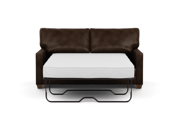 Bennett Track Arm Leather Full Sleeper Sofa The Bennett