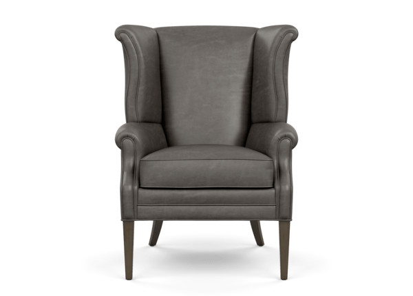 Outstanding Clara Leather Wing Chair Ethan Allen Ocoug Best Dining Table And Chair Ideas Images Ocougorg
