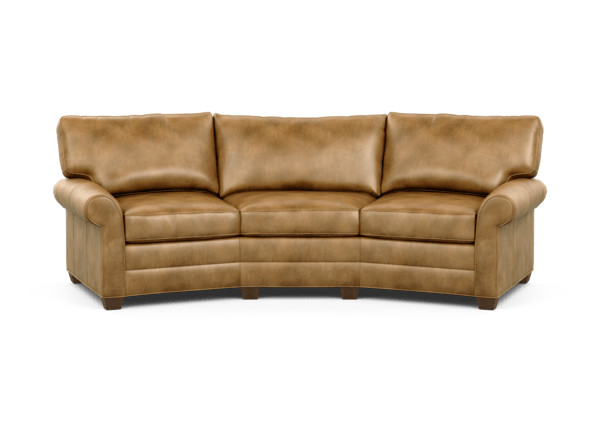 Bennett Conversation Leather Sofa | Sofas & Loveseats ...