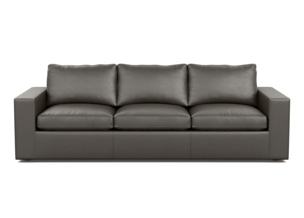 Nolita Low Square-Arm Modern Casual Leather Sofa | Ethan Allen