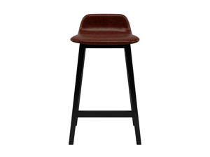 Bar Stool Tonno Sigar Brown  Premium Leather