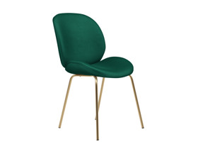 Dining Chair Beetle Emerald Green Gold Legs