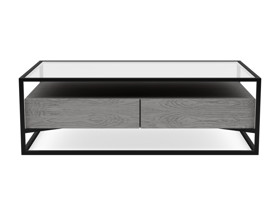 Coffee Table Barbell Monsoon Grey