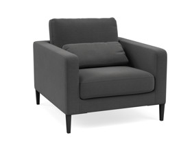 Occasional Chair Janica Mayfair Graphite Grey Fabric