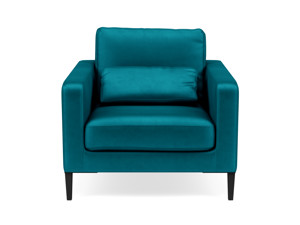 Occasional Chair Syrin  Ocean Blue Velvet