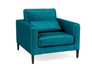 Occasional Chair Janica Ocean Blue Velvet