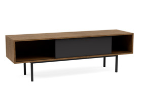 TV Cabinet Atra Vintage Brown with Charcoal Cabinet