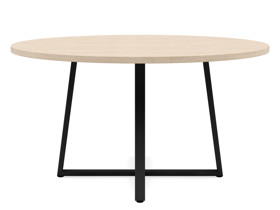 6-8 Seater Oak Round Dining Table Ansa Oak Clear Finish