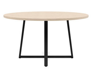 6-8 Seater Oak Round Dinng Table Ansa Oak Clear Finish