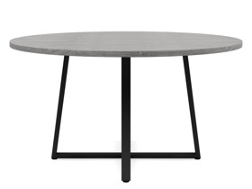 6-8 Seater Oak Round Dining Table Ansa Monsoon Grey