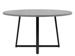 6-8 Seater Oak Round Dinng Table Ansa Monsoon Grey
