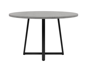 4-6 Seater Oak Round Dinng Table Ansa Monsoon Grey