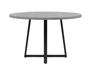 4-6 Seater Oak Round Dining Table Ansa Monsoon Grey