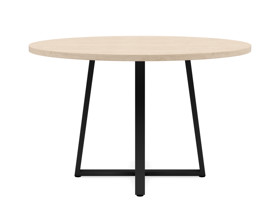 4-6 Seater Oak Round Dining Table Ansa Oak Clear Finish
