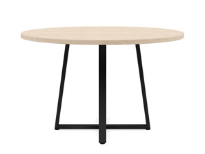4-6 Seater Oak Round Dinng Table Ansa Oak Clear Finish