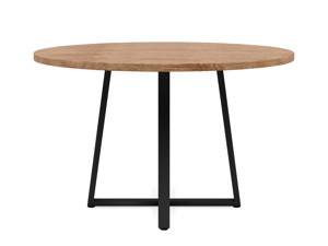 4-6 Seater Oak Round Dinng Table Ansa Walnut Finish