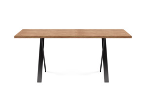 4-6 Seater Oak Dining Table Eleya Walnut Finish