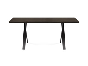 4-6 Seater Oak Dining Table Eleya Intense Black