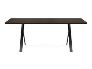 6-8 Seater Oak Dining Table Eleya Intense Black