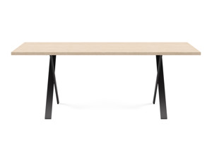 6-8 Seater Oak Dining Table Eleya Oak Clear Finish