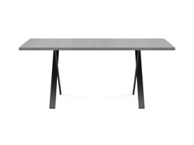 4-6 Seater Oak Dining Table Eleya Monsoon Grey