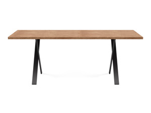 6-8 Seater Oak Dining Table Eleya Walnut Finish