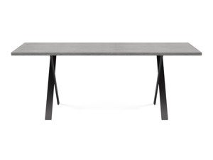 6-8 Seater Oak Dining Table Eleya Monsoon Grey
