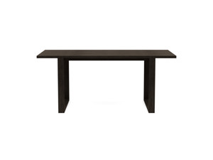 4-6 Seater Oak Dining Table Sala Intense Black