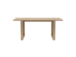 4-6 Seater Oak Dining Table Sala Antique Beige