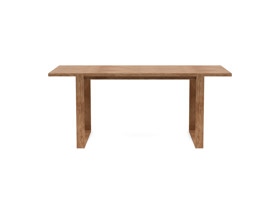 4-6 Seater Oak Dining Table Sala Walnut Finish