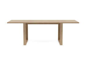 6-8 Seater Oak Dining Table Sala Antique Beige