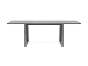 6-8 Seater Oak Dining Table Sala Monsoon Grey