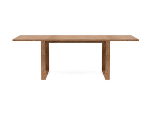 6-8 Seater Oak Dining Table Sala Walnut Finish