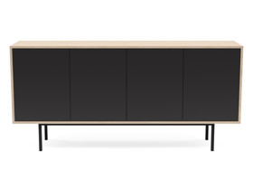 Server Atra  L Oak Clear Finish with Charcoal Cabinet