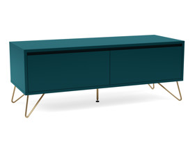 Hairpin Tv Stand 2 Drawer Stylo  Teal