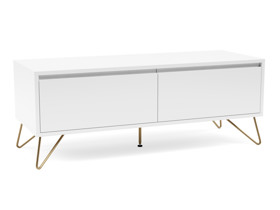 Hairpin Tv Stand 2 Drawer Stylo  Satin White