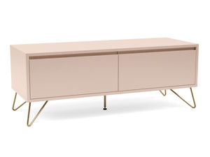 Hairpin Tv Stand 2 Drawer Stylo Blush Pink